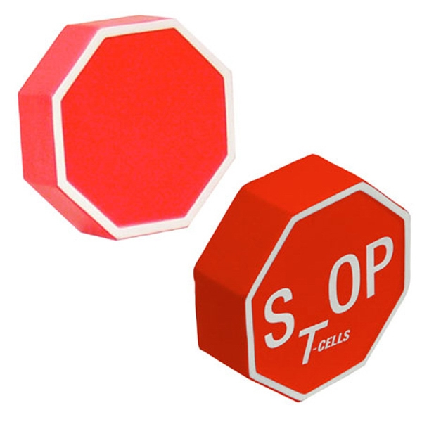Stop Sign Shape Stress Reliever Photo