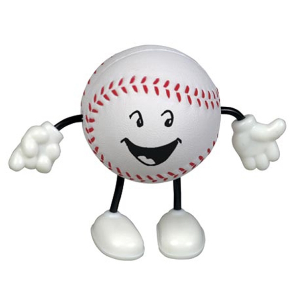 Baseball Figure Shape Stress Reliever With Stock Face Photo