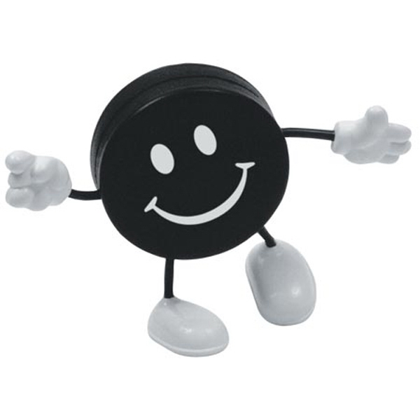 "Hockey Puck Figure Shape Stress Reliever, 2 1/4"" Diameter Photo"