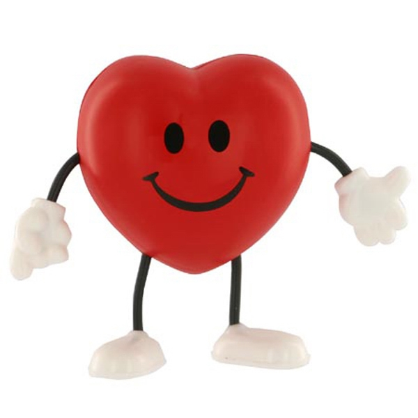 Valentine Heart Figure Shape Stress Reliever With Stock Face Photo