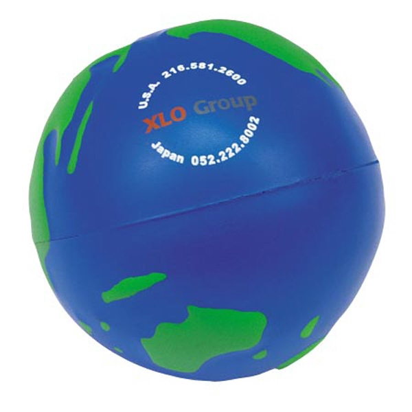 "Earth Ball Shape Stress Reliever, 2 1/2"" Diameter Photo"