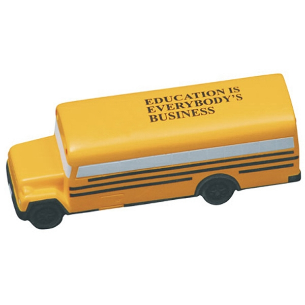 Conventional School Bus Shape Stress Reliever Photo
