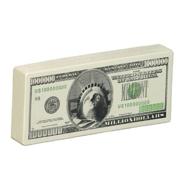Million Dollar Bill Shape Stress Reliever Photo