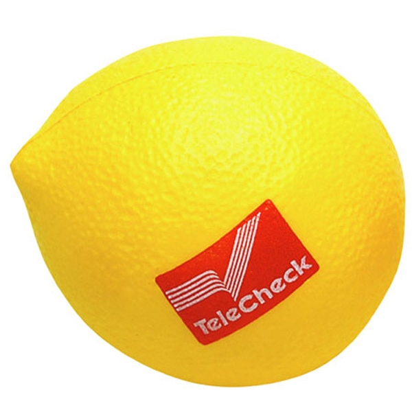 "Lemon - Fruit Shape Stress Reliever, 2 1/2"" Diameter X 3"" Photo"