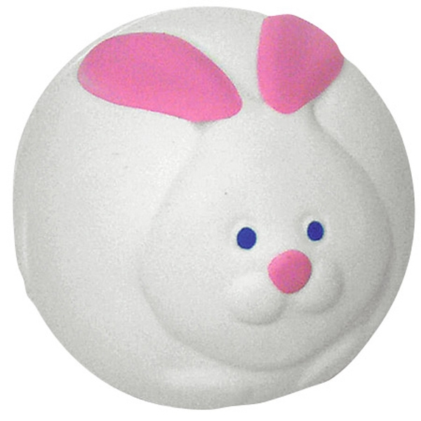 "Bunny Rabbit Ball Shape Stress Reliever, 2 3/8"" Diameter Photo"