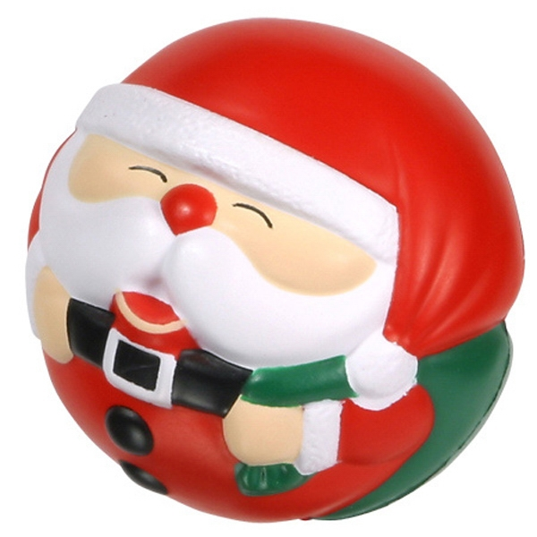 "Santa Claus Ball Shape Stress Reliever, 2 3/4"" Diameter Photo"