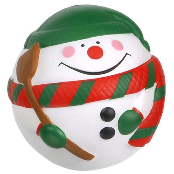 "Snowman Ball Shape Stress Reliever, 2 3/4"" Diameter Photo"