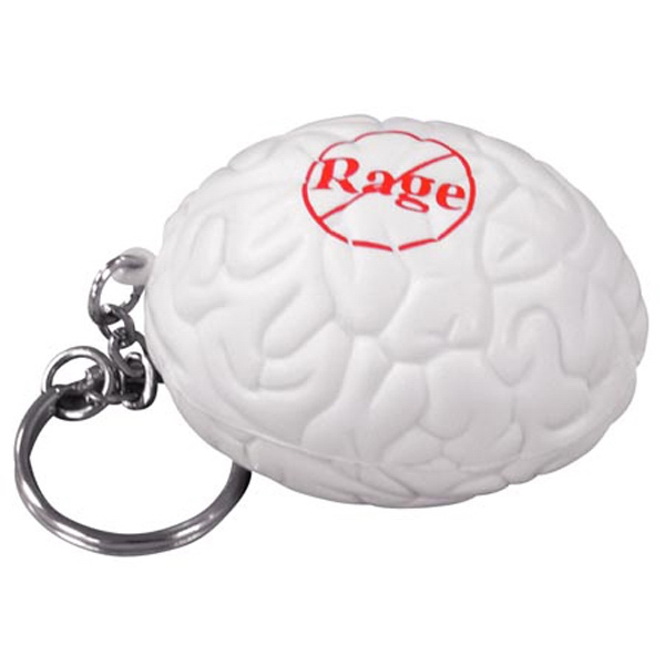 Brain Shape Stress Reliever With Key Chain Photo