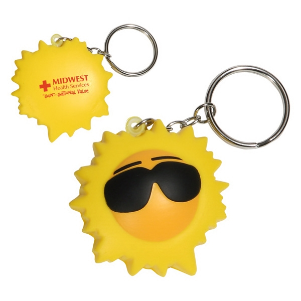 Polyurethane Cool Sun Key Chain Photo