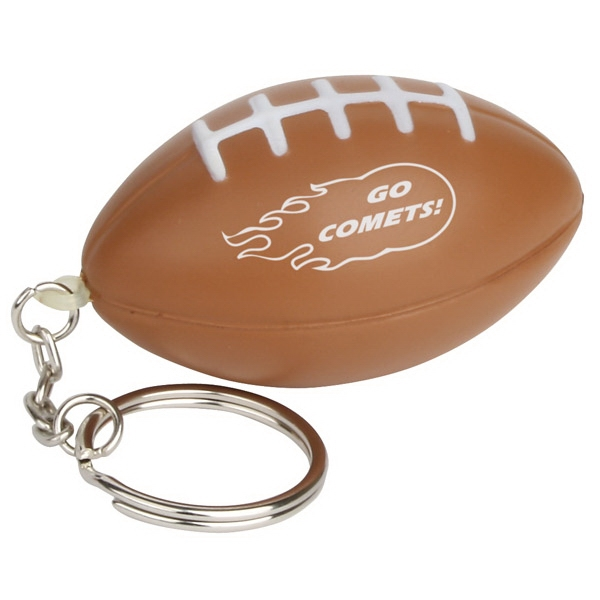 Football Shape Stress Reliever With Key Chain Photo