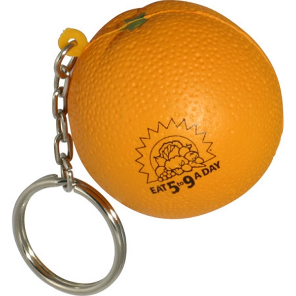 Orange - Fruit Shape Stress Reliever Key Chain Photo