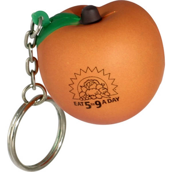 Peach - Fruit Shape Stress Reliever Key Chain Photo