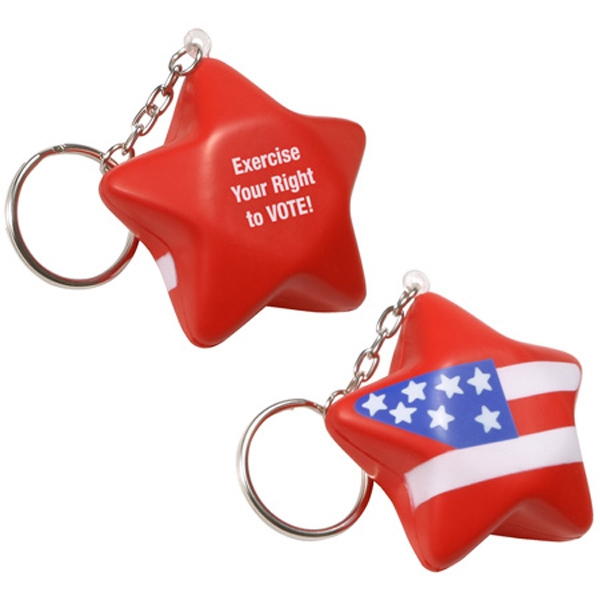 Polyurethane Patriotic Star Key Chain Photo