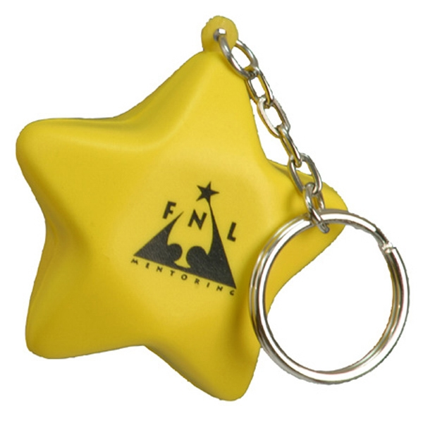 Stock Star Shape Stress Reliever With Key Chain Photo