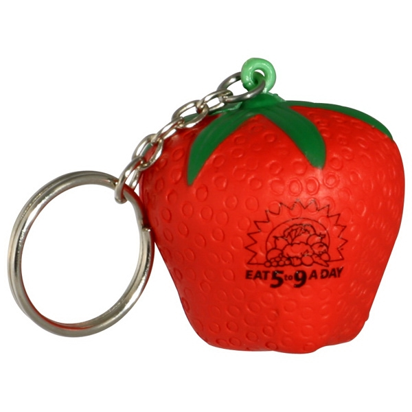 Strawberry - Fruit Shape Stress Reliever Key Chain Photo