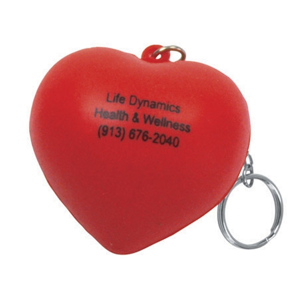Valentine Heart Shape Stress Reliever Key Chain Photo