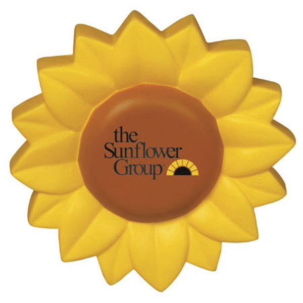 "Sunflower Shape Stress Reliever, 4"" Diameter Photo"