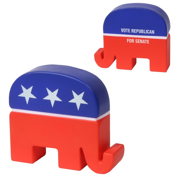 Patriotic Republican Elephant Shape Stress Reliever Photo