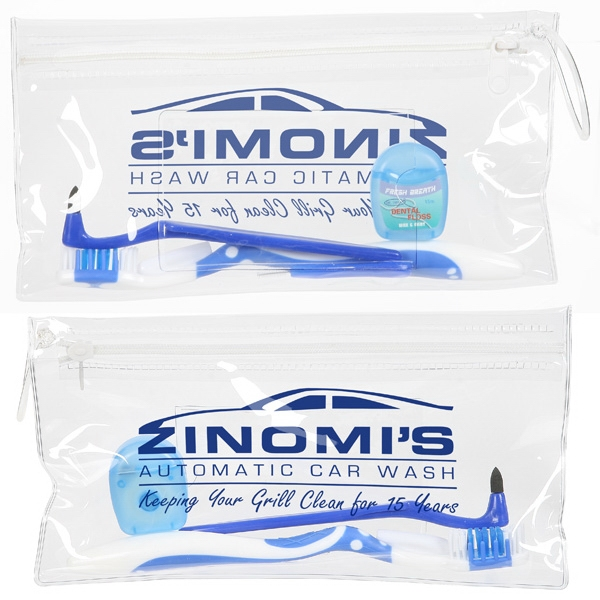 Dental Kit With Interdental Brush, Floss, Stain Remover, Toothbrush, Pouch Photo