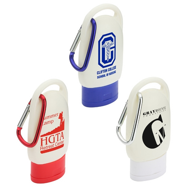 Clip And Go - Hand Sanitizer With Carabiner Clip Photo