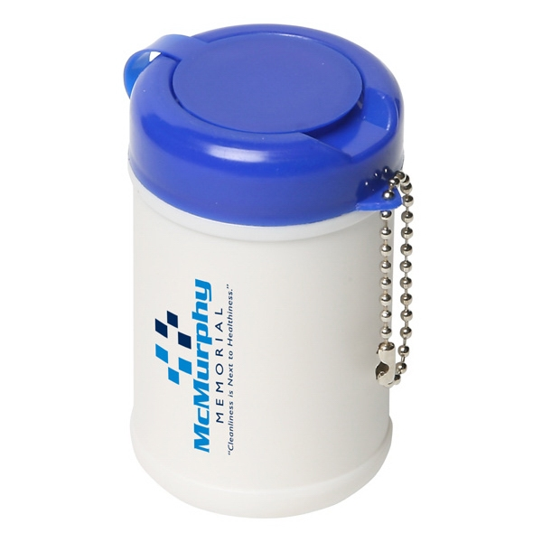 Travel Well - Sanitizer Wipes In Canister With Key Chain Photo