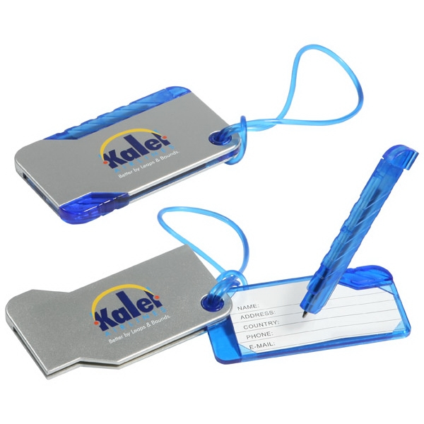 Hideaway - Luggage Tag With Secure Cord And Detachable Pen Photo