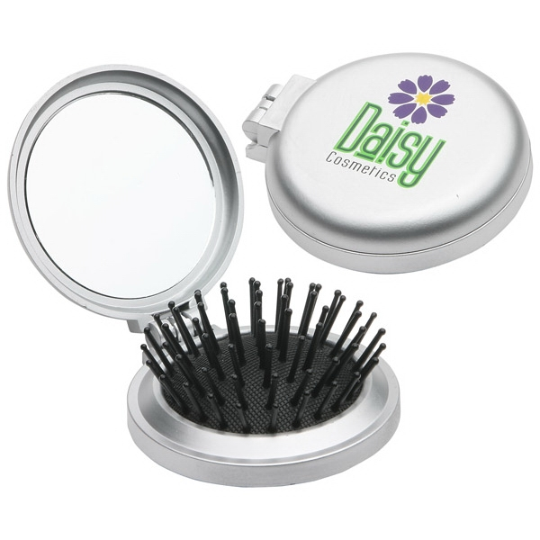 Travel Disk Brush And Mirror Photo