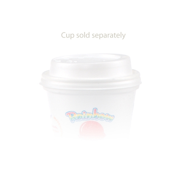 8 oz Domed Lid - White - White dome lid, fits 8 oz. foam cups.