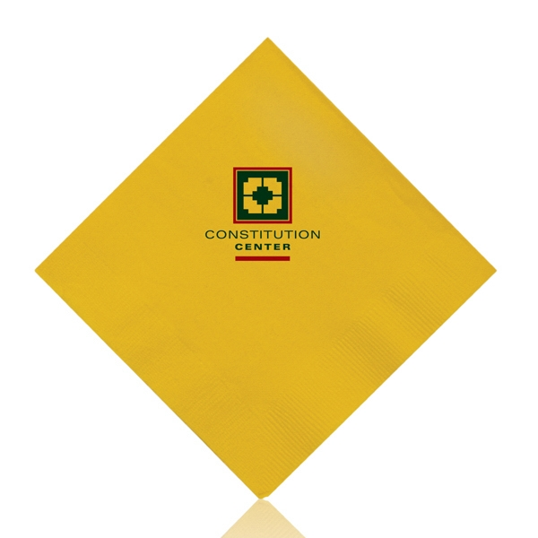 Beverage Napkins-Yellow - Color 3-ply beverage napkins. Made from renewable resources