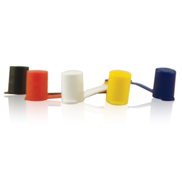 Straw Tips - Yellow - Straw tips for corrugated whistle straw.