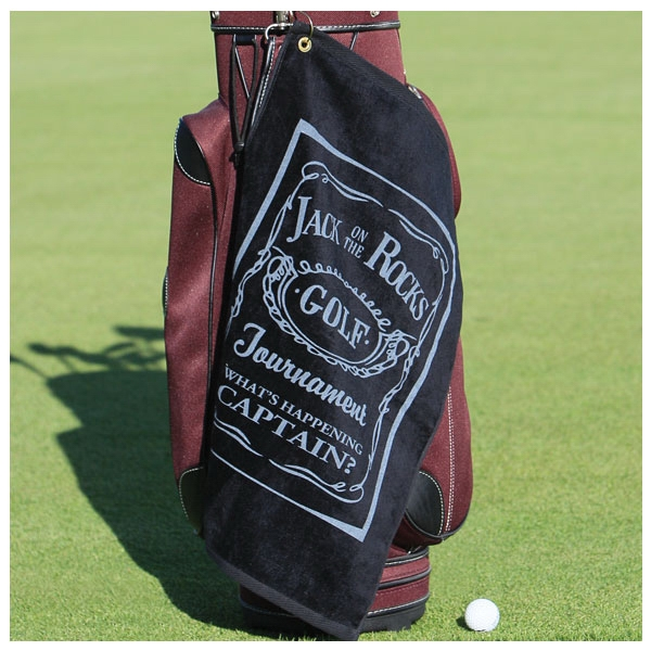 Diamond Collection - 3 Working Days - Printed - White Midweight Terry Velour Hemmed Golf Towel Made Of Cotton Photo