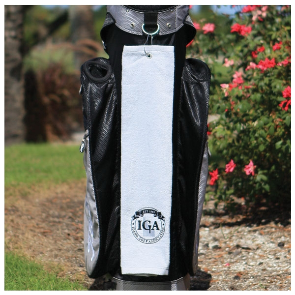 Diamond Collection - 3 Working Days - Embroidery - White Midweight Terry Velour Hemmed Tri Fold Golf Towel Made Of Cotton Photo