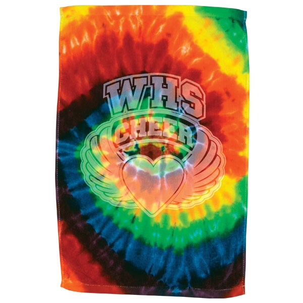 "3 Working Days - Embroidery - Tie Dye 16"" X 25"" Sport Towel Photo"