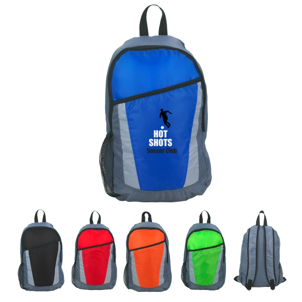 City - Silkscreen - Backpack Made Of 210d Polyester With Large Front Pocket Photo