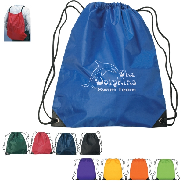 "Large Sports Pack With Nylon Drawstring, 17"" X 20"" Photo"