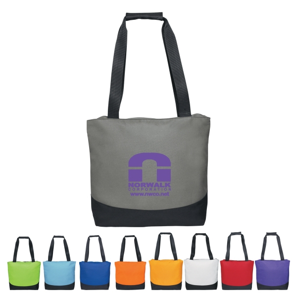 Curve - Silkscreen - Tote Bag With Top Zippered Closure And Web Handles Photo