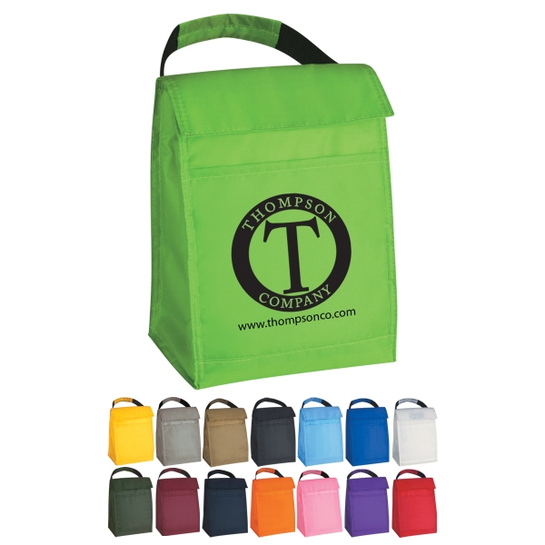 Budget - Insulated 210 Denier Polyester Lunch Bag With Front Pocket Photo