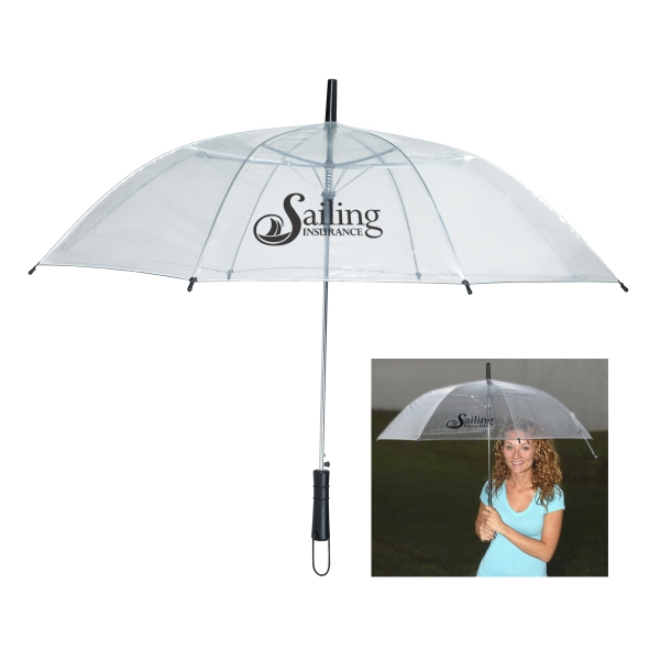 "46"" Arc Clear Umbrella With Metal Frame Photo"