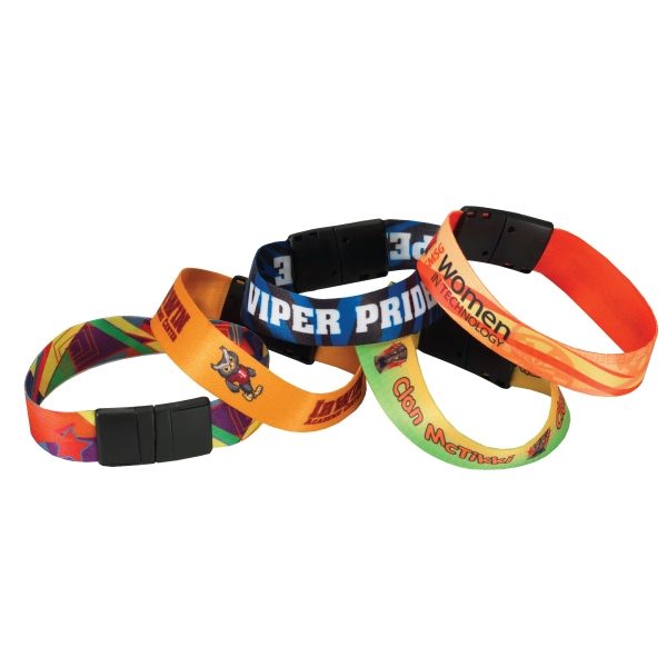 Sublimated Heavy Weight Satin Wristband Photo