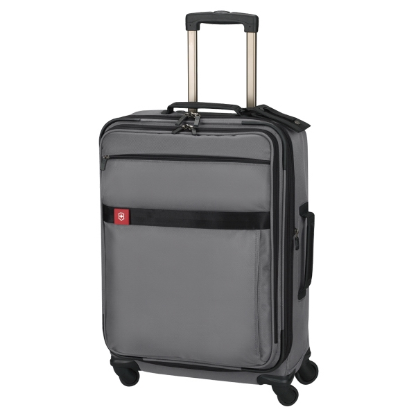 "Avolve (tm) Collection - Black - Comfort Grip, One-touch, Dual-trolley 26""/66 Cm Expandable Wheeled Upright Carry-on Photo"