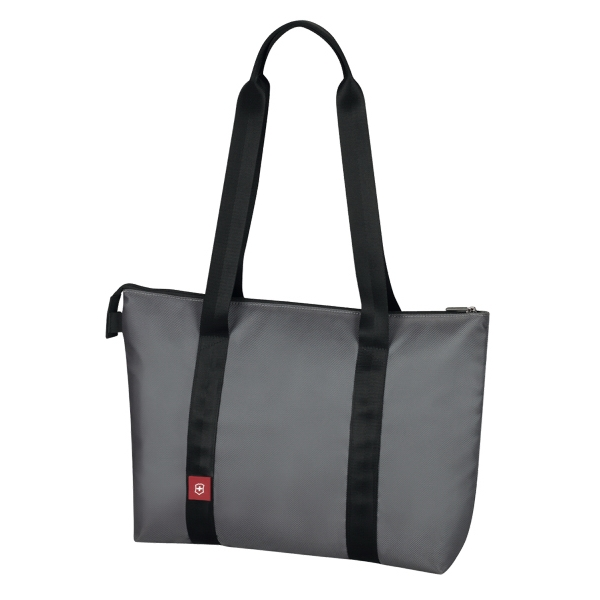Avolve (tm) Collection;daypacker - Graphite - Zippered Shoulder Daypacker Tote Bag Photo