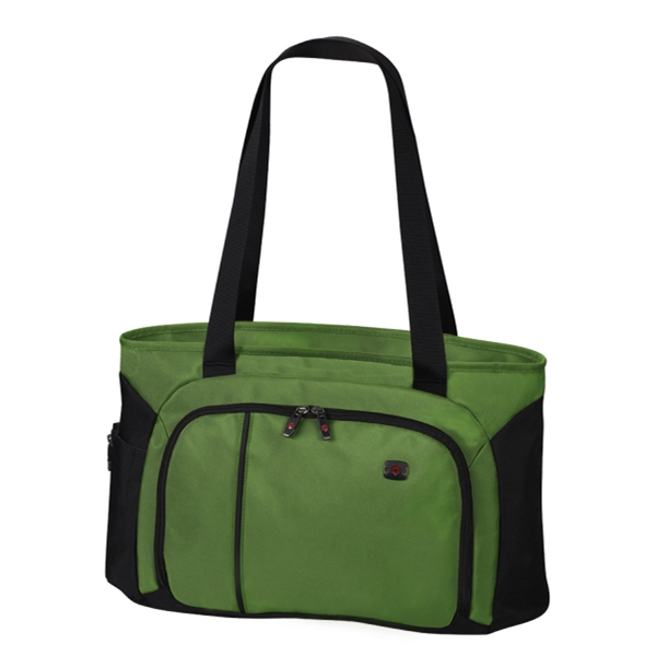Werks Traveler (tm) 4.0 Collection - Emerald-black - Zippered Shoulder Shopping Tote Bag Photo