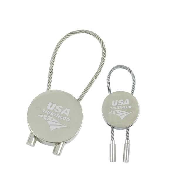 Round cable Key Tag