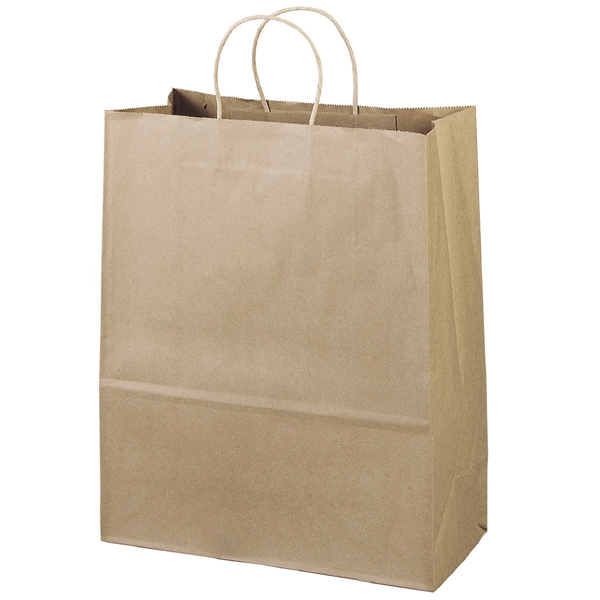 Eco-citation Shopper - Brown Kraft Shopping Bag Made From 100% Recycled Paper Photo