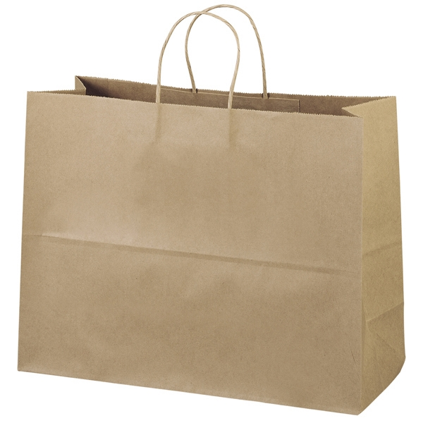 Eco-vogue Shopper - Brown Kraft Shopping Bag Made From 100% Recycled Paper Photo