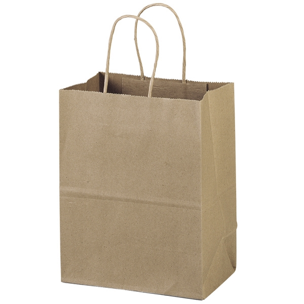 Eco-mini Shopper - Brown Kraft Shopping Bag Made From 100% Recycled Paper Photo