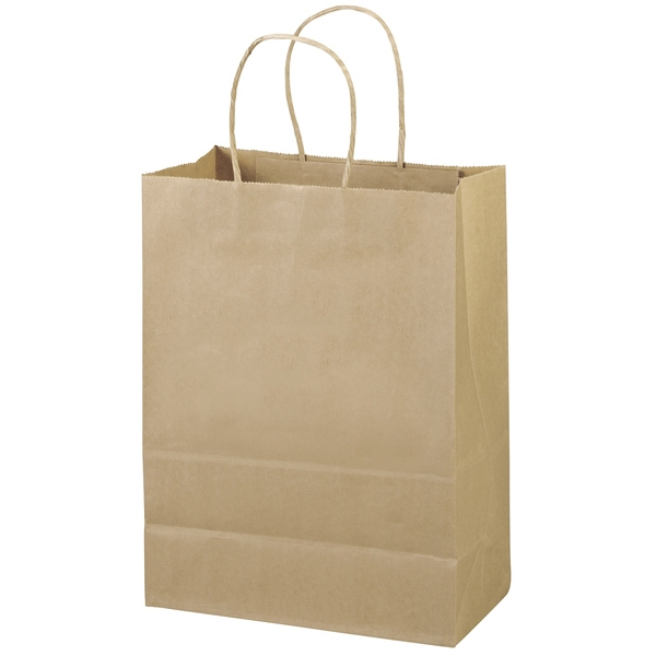 Eco-jenny Shopper - Brown Kraft Paper Shopping Bag Made From 100% Recycled Paper Photo