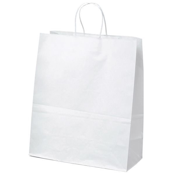Citation Shopper - White Kraft Paper Bag With Matching Twisted Paper Handles Photo