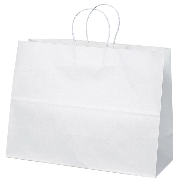 Vogue Shopper - White Kraft Paper Shopping Bag With Matching Twisted Paper Handles Photo