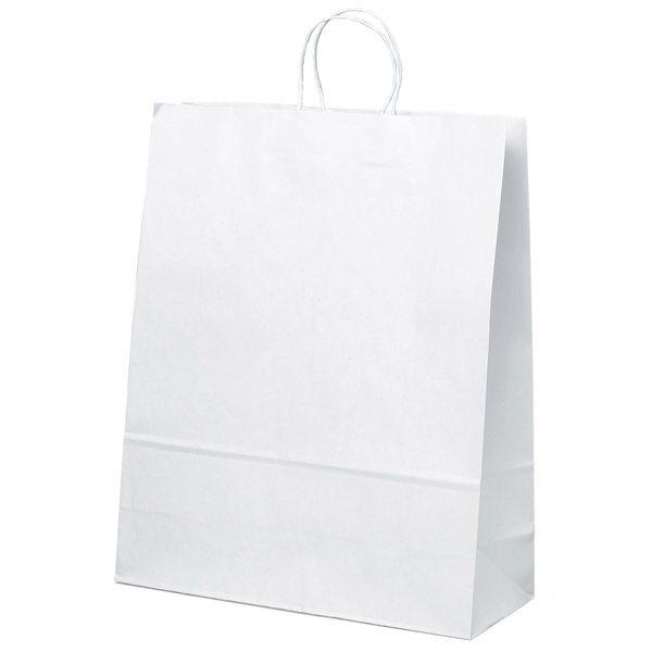 Stephanie Shopper - White Kraft Paper Shopping Bag With Matching Twisted Paper Handles Photo